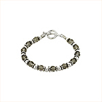 Sterling Silver Bracelet with Black Swarovski Crystals