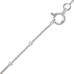Sterling Silver 1mm Box Chain with Beads