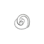Sterling Silver Solid and Pave CZ Heart Pendant with White CZ