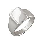 Sterling Silver Flat Square Ring