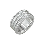 Sterling Silver Polished and Hammered Lines Ring