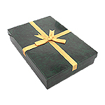 Green Necklace Box with Gold Bow