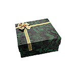 Green Wide Bangle Box with Gold Bow