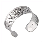 "Sterling Silver 1"" Wide Rope Cuff"