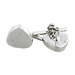 Sterling Silver Triangular Cuff Link