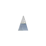 Sterling Silver and Blue Mother of Pearl Triangle Pendant