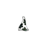Sterling Silver Leaves in Triangle Pendant with Black Mother of Pearl