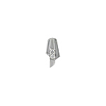 Sterling Silver Matte and High Polish Finish Modern Pendant with White CZ