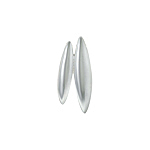 Sterling Silver High Polish and Matte Finish Two Ovals Pendant