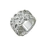 Sterling Silver Hearts, Curls, and Vines Ring