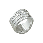 Sterling Silver Crossing Lines Ring