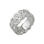 Sterling Silver Honey Comb Ring