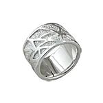 Sterling Silver Chaotic Lines Ring