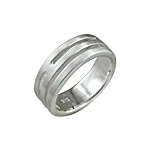 Sterling Silver Matte Finish Slotted Ring