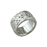 Sterling Silver Abstract Patterned Ring