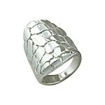 Sterling Silver High Polish Finish Cobblestone Ring