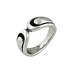 Sterling Silver Round Edges Ring