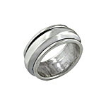 Sterling Silver Plain Spin Ring