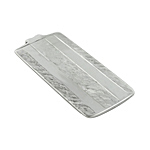 Sterling Silver Hign Polish and Hammered Lines Money Clip