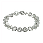 Sterling Silver 8mm Flat Cable Chain Bracelet