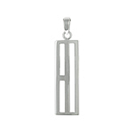 Sterling Silver Long Rectangle Pendant With Slots