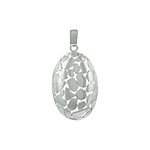"Sterling Silver High Polish Finish ""Cobblestone"" Pendant"