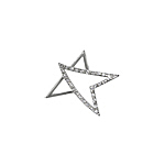 Sterling Silver Star Pendant with White CZ