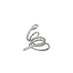 "Sterling Silver ""Coiling Snake"" Pendant with White CZ"