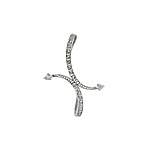 Sterling Silver Arching Arrows Pave CZ Pendant