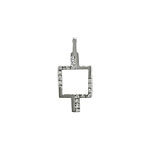Sterling Silver Aztek Style Pendant with White CZ