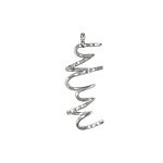 "Sterling Silver ""Hurricane"" Pendant with White CZ"