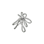 Sterling Silver Tied Ribbon Pendant with White CZ