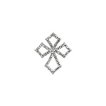 Sterling Silver Pave CZ Cross Pendant