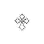 Sterling Silver Pave CZ Cross Pendant