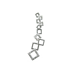 Sterling Silver Connected Squares Pendant with White CZ