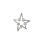 Sterling Silver Star Pendant with Five White CZ