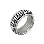 Sterling Silver Knit Band Spin Ring