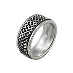 Sterling Silver Large Wafer Spin Ring