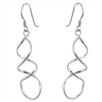 Sterling Silver Spiral Wire Dangle Earrings