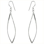 Sterling Silver Twisted Oval Wire Earrings
