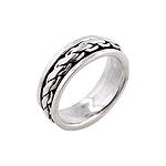 Sterling Silver Cable Chain Spin Ring
