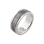 Sterling Silver Small Waffer Spin Ring