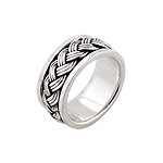 Sterling Silver Triple Braid Spin Ring