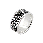 Sterling Silver Knit Ring