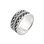 Sterling Silver Zigzag Lanes Ring