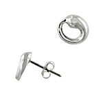 Tiffany Inspired Sterling Silver Eternal Circle Stud Earrings