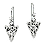 Sterling Silver Celtic Knot Funnel Dangle Earrings