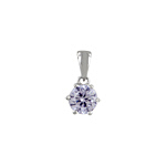 Sterling Silver Brilliant Cut CZ Pendant
