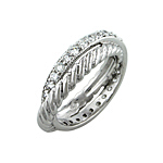 Sterling Silver Infinity Anniversary CZ Ring