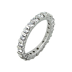 Sterling Silver Round CZ Stackable Band